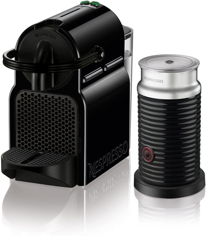 Nespresso Inissia Espresso Machine by De'Longhi with Aeroccino in Black